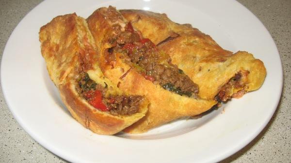 Stromboli Daiya Meatless Crumbles